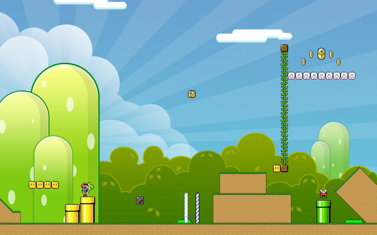1024x768 Super Mario Realistic desktop PC and Mac wallpaper