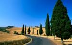 Strada di campagna nei pressi di Monticchiello, Siena (Winding C
