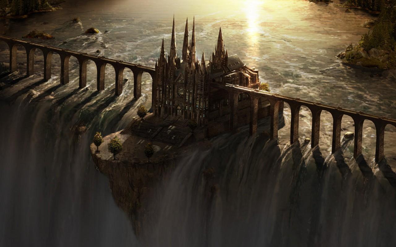 http://awesomewallpapers.files.wordpress.com/2009/09/waterfall_castle_matte_art_by_fstarno_new1.jpg
