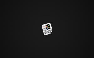 Windows Sticker On Carbon Fibre 1680x1050