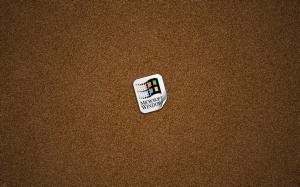 Windows Sticker On Cork-board 1680x1050