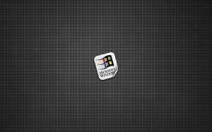Windows Sticker On Metallic Grill 1680x1050