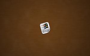 windows sticker wood