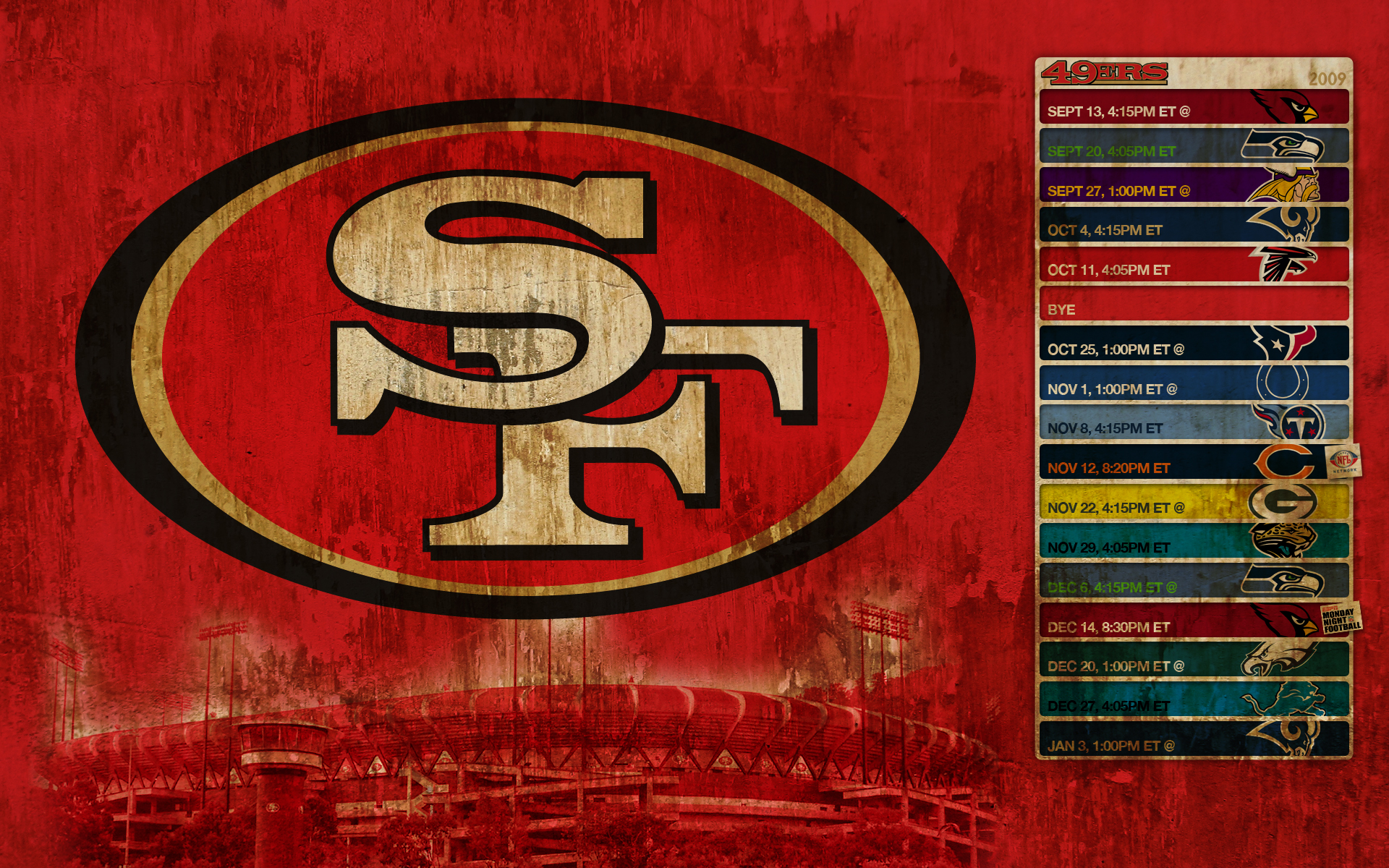 Misc wallpaper set 8 sports nfl megapack 1 awesome - 2015 49ers schedule wallpaper ...