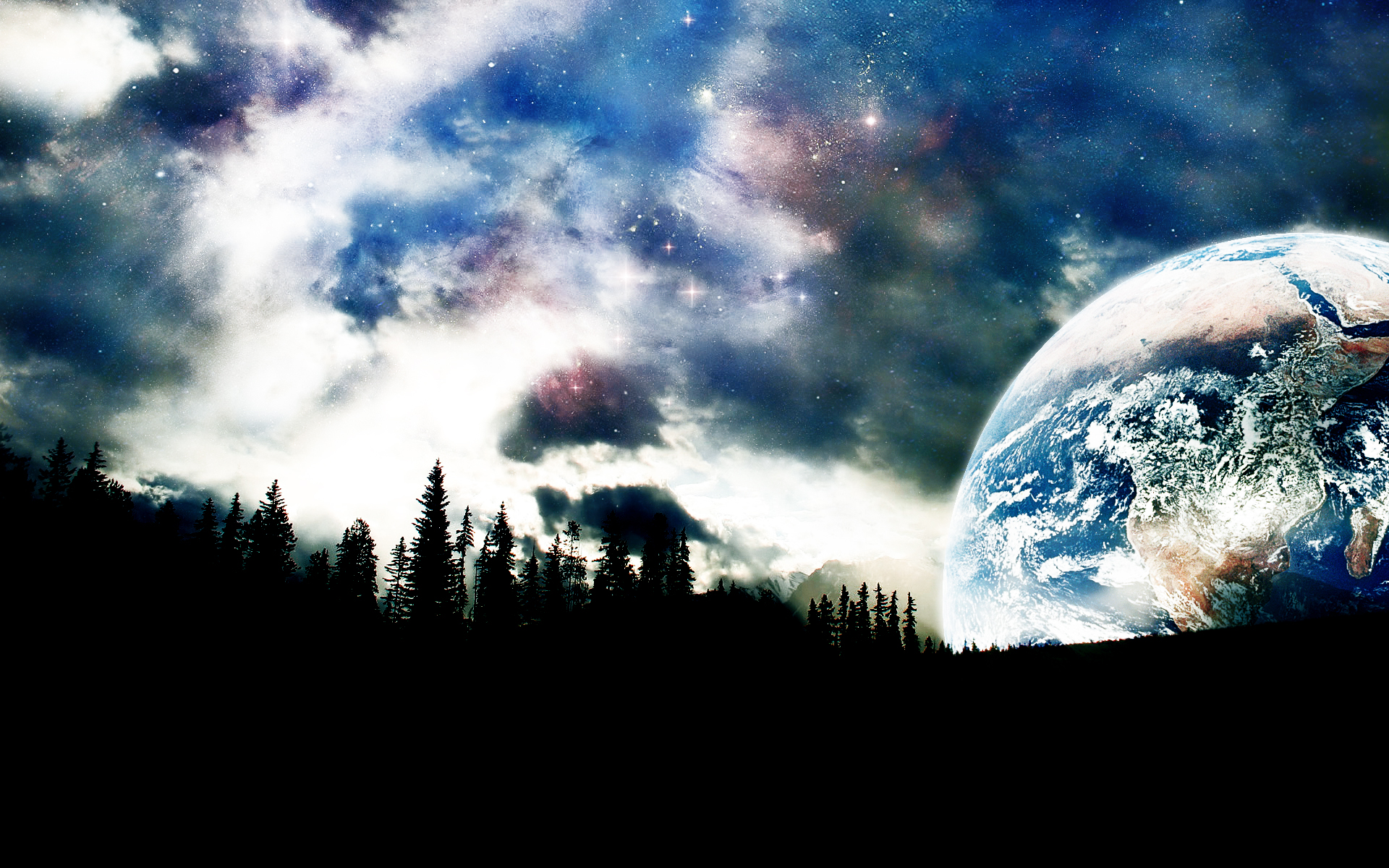 space 1080p wallpaper landscape - photo #1