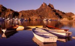 Puerto al amanecer, San Carlos Sonora (Harbor at Sunrise San Car