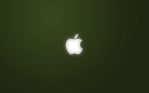 simple an apple in green