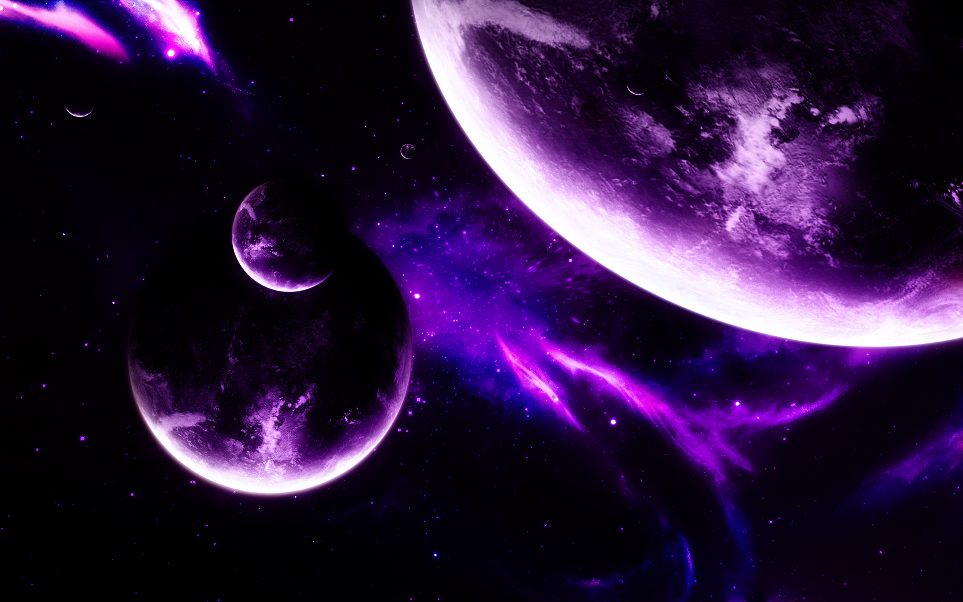 amazing solar system backgrounds in purple - photo #10