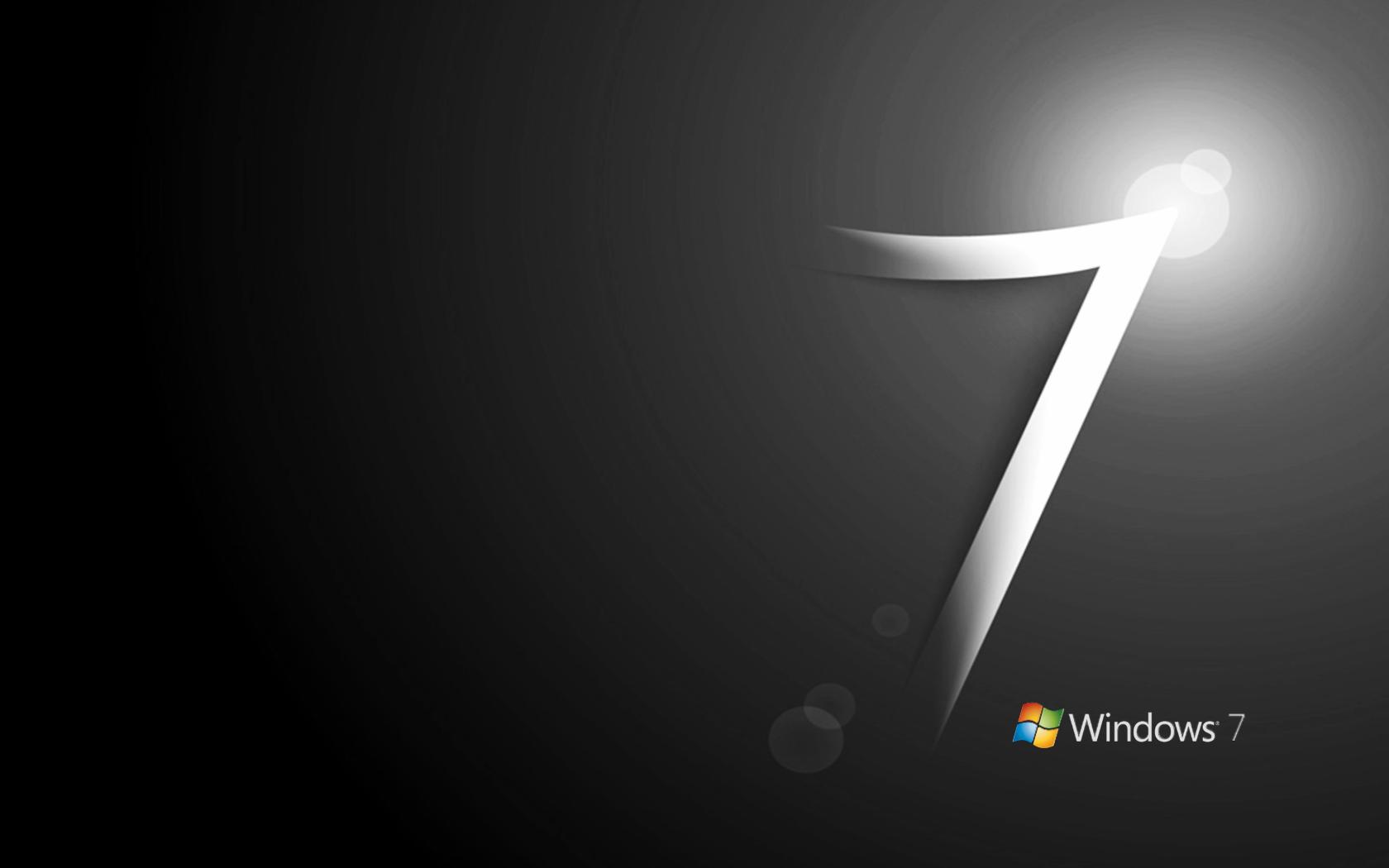 windows 7 black wlogo « awesome wallpapers
