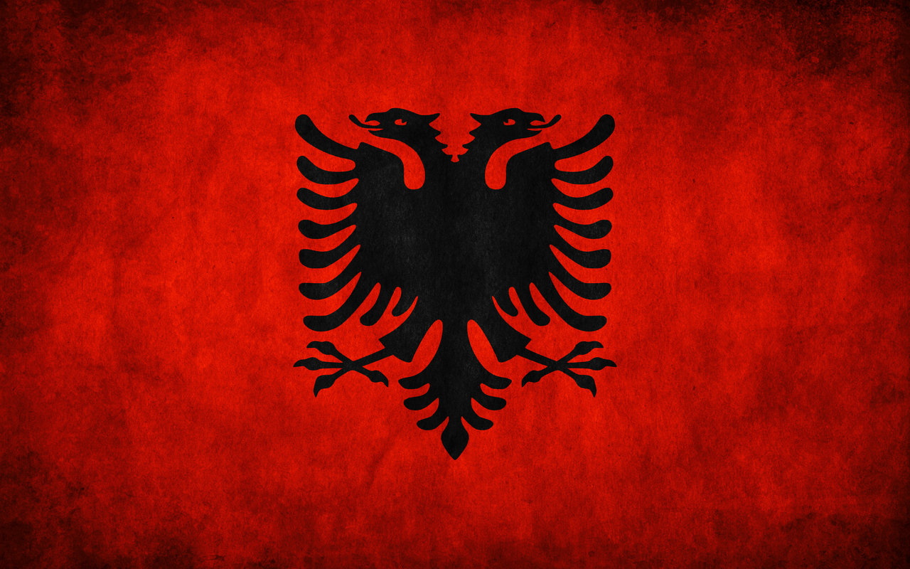 Albanische Flagge Wallpaper
