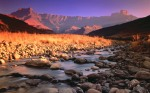 Drakensberg and Tugela River at Sunset, Royal Natal National Park, South Africa