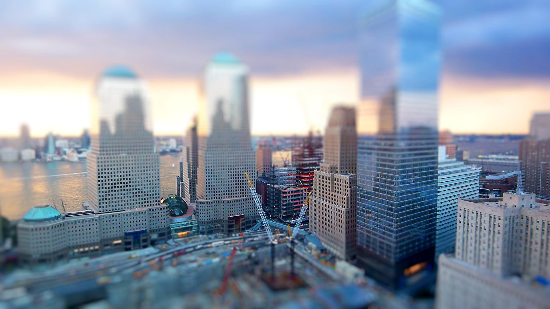 Эффект макета города без смс