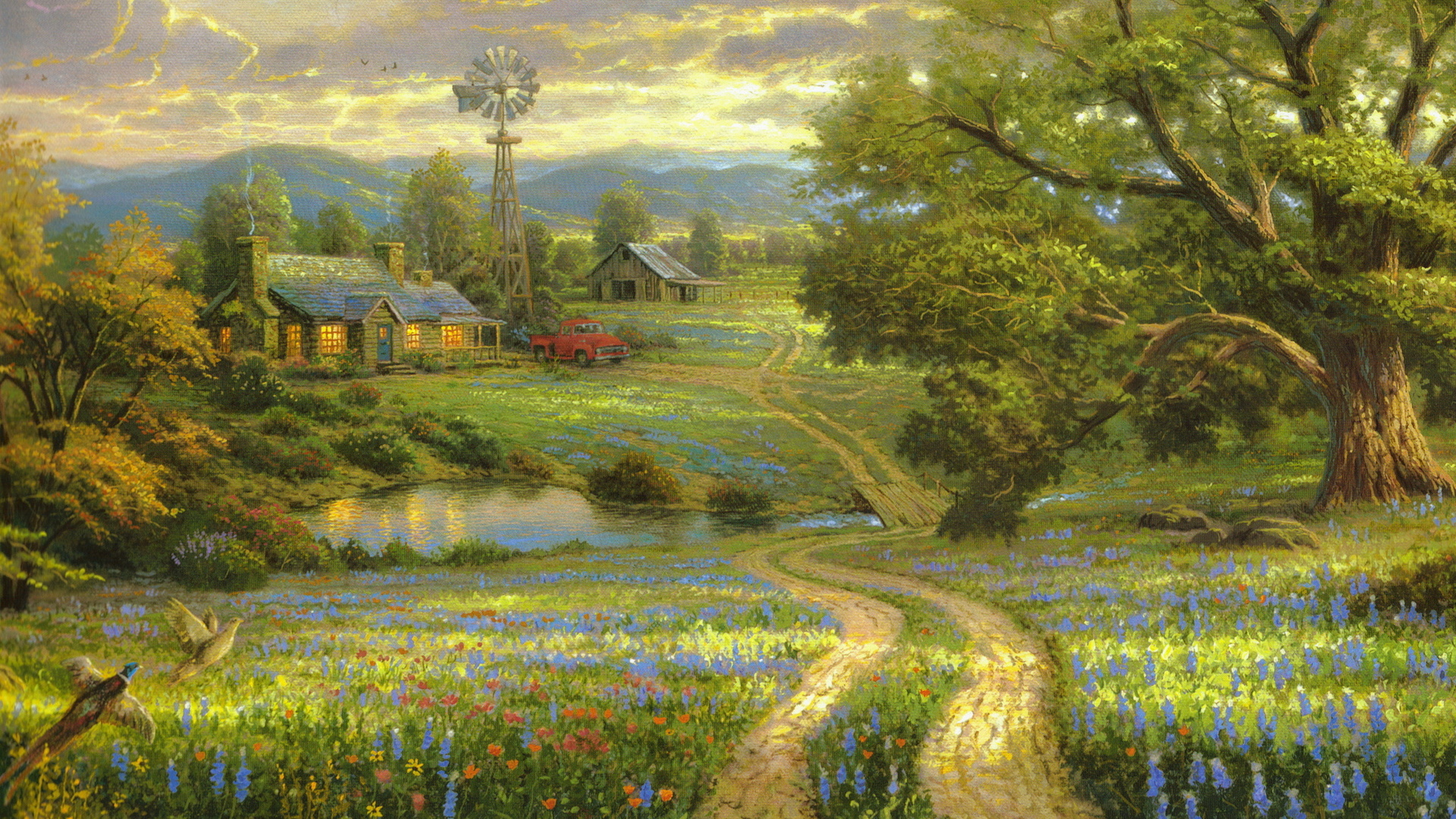 Thomas Kinkade Wallpapers « Awesome Wallpapers Nature Painting Wallpaper Hd