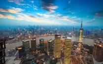 shanghai in sunset