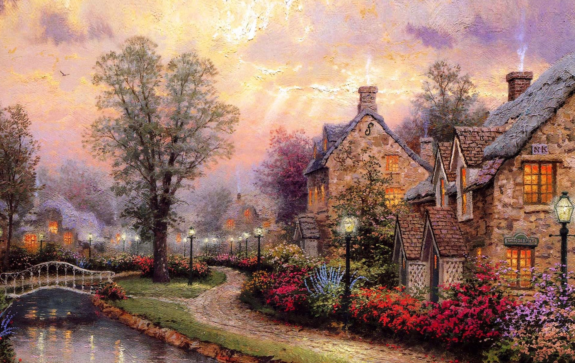 Thomas Kinkade Wallpapers Awesome