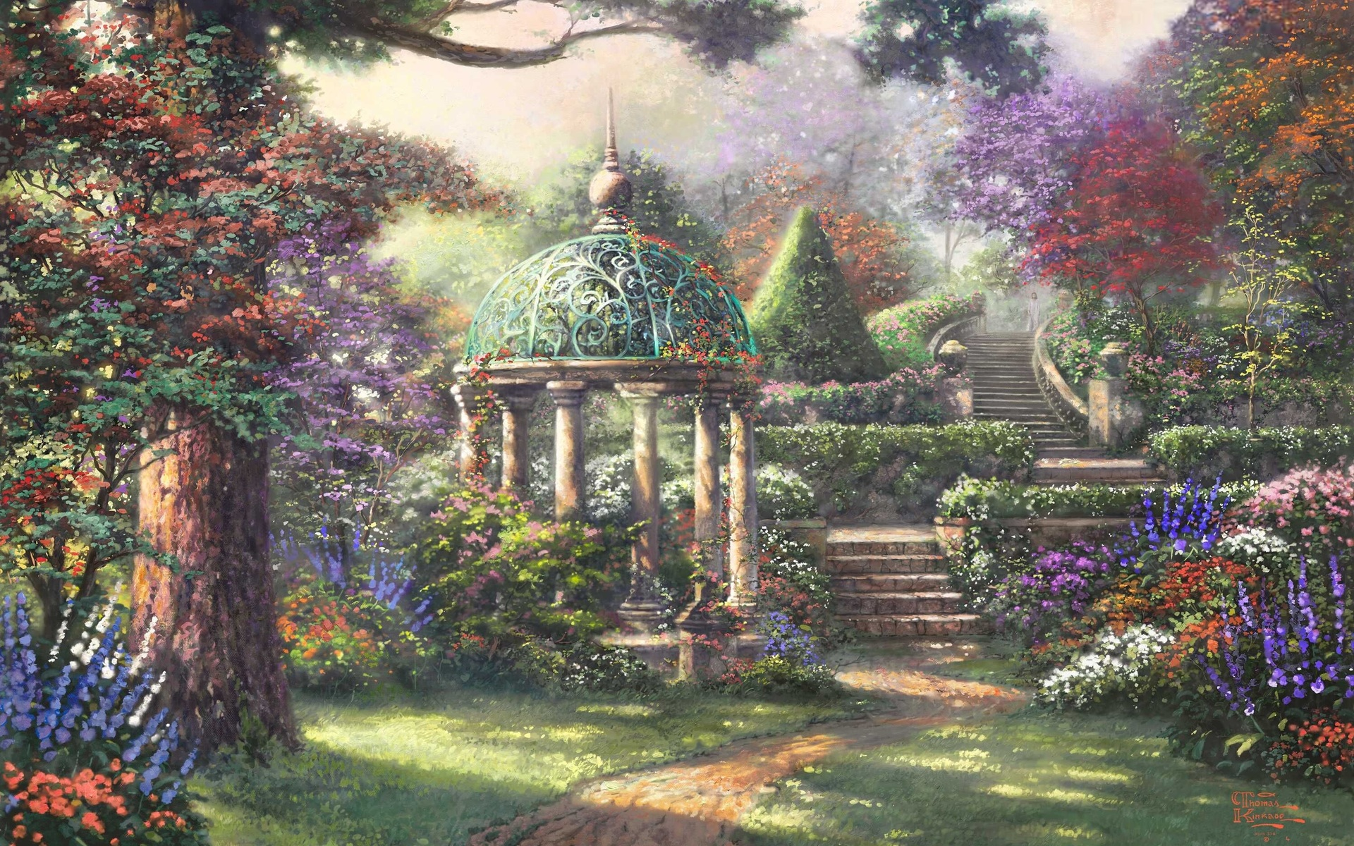 Thomas kinkade wallpapers hd awesome wallpapers - Art village wallpaper ...