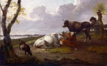 Full title: Cattle Artist: Heinrich Wilhelm Schweickhardt Date made: 1794 Source: http://www.nationalgalleryimages.co.uk/ Contact: picture.library@nationalgallery.co.uk Copyright (C) The National Gallery, London