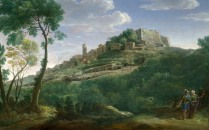 Full title: A Landscape with an Italian Hill Town Artist: Hendrik Frans van Lint Date made: 1700-26 Source: http://www.nationalgalleryimages.co.uk/ Contact: picture.library@nationalgallery.co.uk Copyright (C) The National Gallery, London