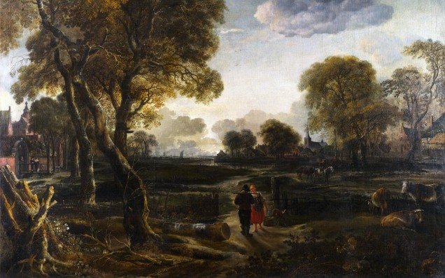 Full title: An Evening View near a Village Artist: Aert van der Neer Date made: about 1650 Source: http://www.nationalgalleryimages.co.uk/ Contact: picture.library@nationalgallery.co.uk Copyright (C) The National Gallery, London