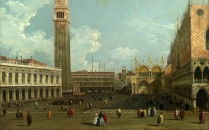 Full title: Venice: The Piazzetta from the Molo Artist: Studio of Canaletto Date made: about 1740 Source: http://www.nationalgalleryimages.co.uk/ Contact: picture.library@nationalgallery.co.uk Copyright (C) The National Gallery, London