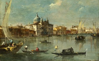 Full title: Venice: The Giudecca with the Zitelle Artist: Francesco Guardi Date made: 1780s Source: http://www.nationalgalleryimages.co.uk/ Contact: picture.library@nationalgallery.co.uk Copyright (C) The National Gallery, London
