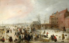 Full title: A Scene on the Ice near a Town Artist: Hendrick Avercamp Date made: about 1615 Source: http://www.nationalgalleryimages.co.uk/ Contact: picture.library@nationalgallery.co.uk Copyright (C) The National Gallery, London