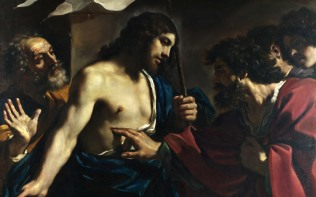 Full title: The Incredulity of Saint Thomas Artist: Guercino Date made: 1621 Source: http://www.nationalgalleryimages.co.uk/ Contact: picture.library@nationalgallery.co.uk Copyright (C) The National Gallery, London