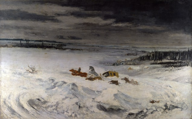 Full title: The Diligence in the Snow Artist: Gustave Courbet Date made: 1860 Source: http://www.nationalgalleryimages.co.uk/ Contact: picture.library@nationalgallery.co.uk Copyright (C) The National Gallery, London