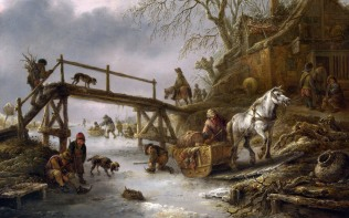 Full title: A Winter Scene Artist: Isack van Ostade Date made: 1640s Source: http://www.nationalgalleryimages.co.uk/ Contact: picture.library@nationalgallery.co.uk Copyright (C) The National Gallery, London