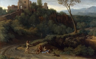 Full title: Imaginary Landscape with Buildings in Tivoli Artist: Gaspard Dughet Date made: about 1670 Source: http://www.nationalgalleryimages.co.uk/ Contact: picture.library@nationalgallery.co.uk Copyright (C) The National Gallery, London