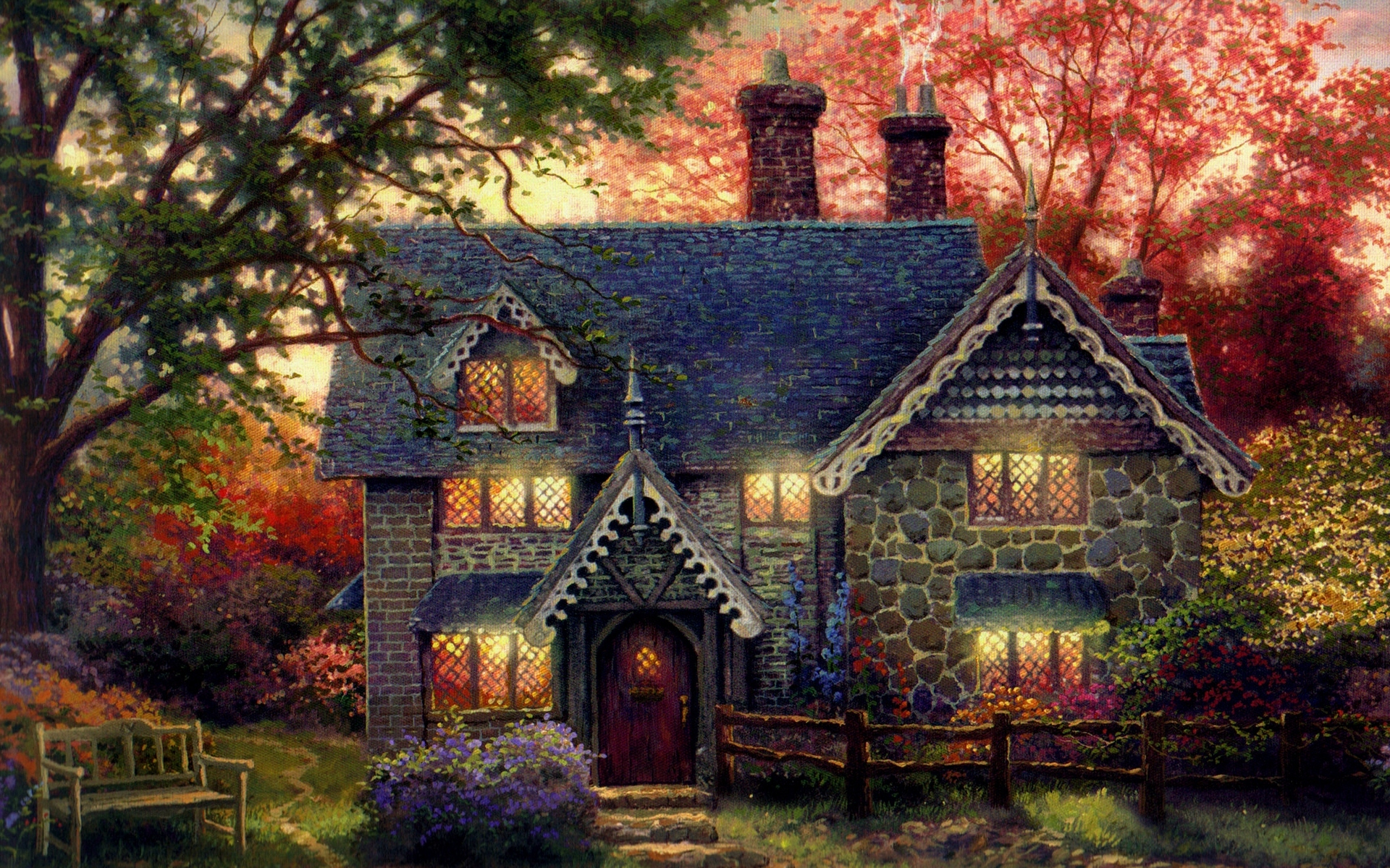 Thomas Kinkade Wallpapers « Awesome Wallpapers Ubuntu Wallpaper 1920x1080