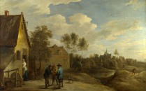 Full title: A View of a Village Artist: David Teniers the Younger Date made: about 1645 Source: http://www.nationalgalleryimages.co.uk/ Contact: picture.library@nationalgallery.co.uk Copyright (C) The National Gallery, London