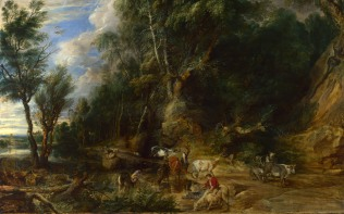 Full title: The Watering Place Artist: Peter Paul Rubens Date made: about 1615-22 Source: http://www.nationalgalleryimages.co.uk/ Contact: picture.library@nationalgallery.co.uk Copyright (C) The National Gallery, London