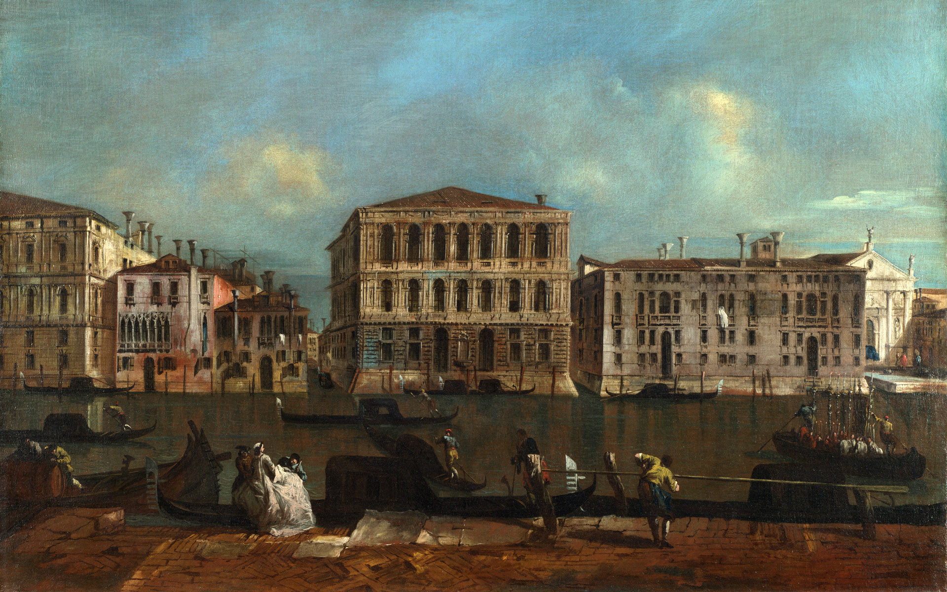 Full Title: Venice: The Grand Canal With Palazzo Pesaro Artist: Francesco  Guardi Date