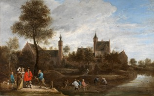 Full title: A View of Het Sterckshof near Antwerp Artist: David Teniers the Younger Date made: about 1646 Source: http://www.nationalgalleryimages.co.uk/ Contact: picture.library@nationalgallery.co.uk Copyright (C) The National Gallery, London