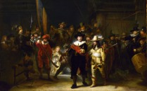 Full title: The Company of Captain Banning Cocq ('The Nightwatch') Artist: Gerrit Lundens (after Rembrandt) Date made: after 1642 Source: http://www.nationalgalleryimages.co.uk/ Contact: picture.library@nationalgallery.co.uk Copyright (C) The National Gallery, London