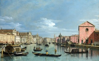 Full title: Venice: The Grand Canal facing Santa Croce Artist: Bernardo Bellotto Date made: perhaps 1740s Source: http://www.nationalgalleryimages.co.uk/ Contact: picture.library@nationalgallery.co.uk Copyright (C) The National Gallery, London