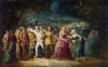 Full title: Torchlight Procession Artist: Adolphe Monticelli Date made: probably 1870-86 Source: http://www.nationalgalleryimages.co.uk/ Contact: picture.library@nationalgallery.co.uk Copyright (C) The National Gallery, London