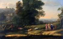 Full title: Landscape with Cephalus and Procris reunited by Diana Artist: Claude Date made: 1645 Source: http://www.nationalgalleryimages.co.uk/ Contact: picture.library@nationalgallery.co.uk Copyright (C) The National Gallery, London