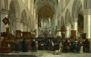 Full title: The Interior of the Grote Kerk, Haarlem Artist: Gerrit Berckheyde Date made: 1673 Source: http://www.nationalgalleryimages.co.uk/ Contact: picture.library@nationalgallery.co.uk Copyright (C) The National Gallery, London