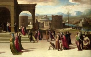 Full title: The Story of Papirius Artist: Domenico Beccafumi Date made: mid 1520s Source: http://www.nationalgalleryimages.co.uk/ Contact: picture.library@nationalgallery.co.uk Copyright (C) The National Gallery, London