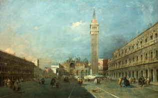 Full title: Venice: Piazza San Marco Artist: Francesco Guardi Date made: after 1780 Source: http://www.nationalgalleryimages.co.uk/ Contact: picture.library@nationalgallery.co.uk Copyright (C) The National Gallery, London