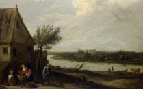 Full title: A Cottage by a River with a Distant View of a Castle Artist: David Teniers the Younger Date made: about 1650 Source: http://www.nationalgalleryimages.co.uk/ Contact: picture.library@nationalgallery.co.uk Copyright (C) The National Gallery, London