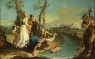 Full title: The Finding of Moses Artist: Attributed to Francesco Zugno Date made: after 1740 Source: http://www.nationalgalleryimages.co.uk/ Contact: picture.library@nationalgallery.co.uk Copyright (C) The National Gallery, London