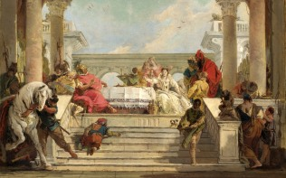 Full title: The Banquet of Cleopatra Artist: Giovanni Battista Tiepolo Date made: 1740s Source: http://www.nationalgalleryimages.co.uk/ Contact: picture.library@nationalgallery.co.uk Copyright (C) The National Gallery, London