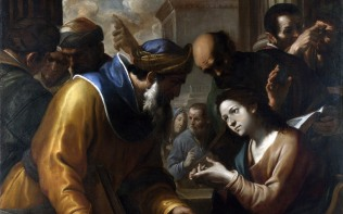 Full title: Christ disputing with the Doctors Artist: Gregorio Preti Date made: 1660s Source: http://www.nationalgalleryimages.co.uk/ Contact: picture.library@nationalgallery.co.uk Copyright (C) The National Gallery, London