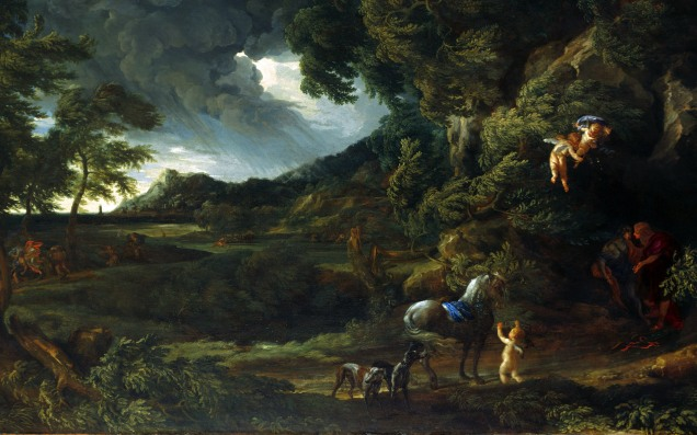Full title: Landscape with the Union of Dido and Aeneas Artist: Gaspard Dughet and Carlo Maratta Date made: about 1664-8 Source: http://www.nationalgalleryimages.co.uk/ Contact: picture.library@nationalgallery.co.uk Copyright (C) The National Gallery, London