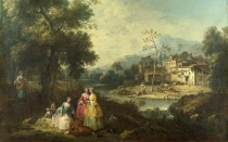 Full title: Landscape with a Group of Figures Artist: Giuseppe Zais Date made: probably 1770-80 Source: http://www.nationalgalleryimages.co.uk/ Contact: picture.library@nationalgallery.co.uk Copyright (C) The National Gallery, London